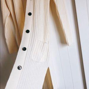 Ivory long cardigan